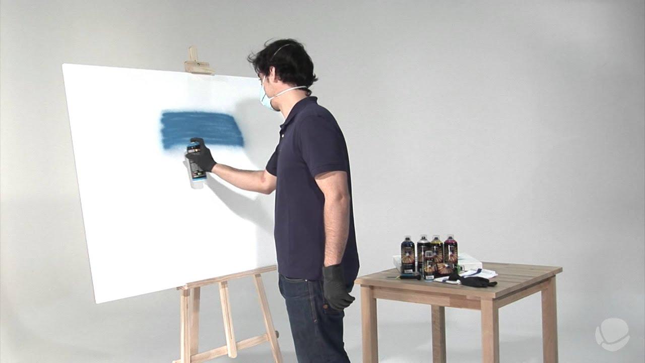 Tutorial c mo pintar con spray paso a paso youtube for Pintar muebles con spray