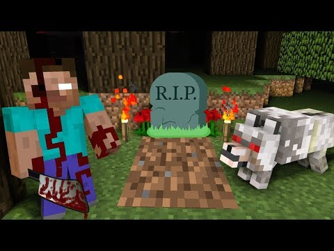 Monster School : RIP Herobrine DIES and becomes ZOMBIE pt. 3  - Horror Minecraft Animation