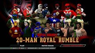 wwe 2k15 marvel dc comics tmnt power rangers royal rumble