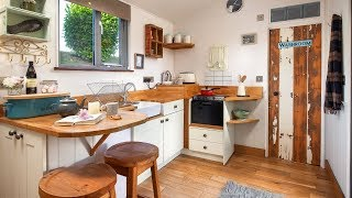 Amazing Tiny House Country-style Kitchen, Floor Plan Design Ideas