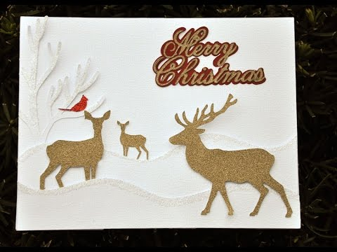 deer christmas card with cricut explore youtube - Deer Christmas Cards