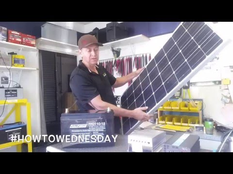 #HowtoWednesday 100 Watt Solar Kit with Battery for Off-Grid