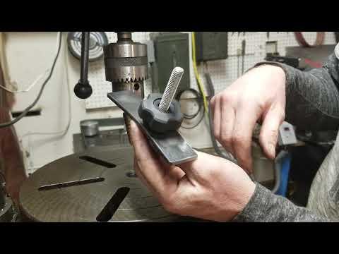 DIY drill press clamp.