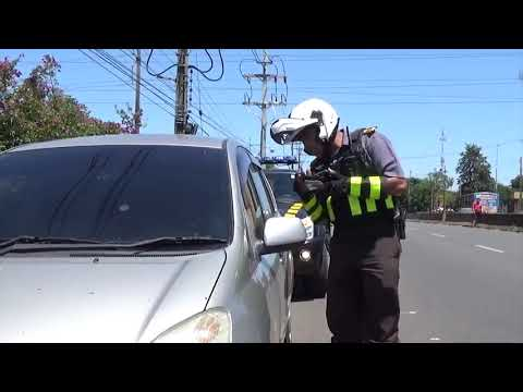 VIDEO: La caminera enseña cómo es la nueva multa por usar el carril izquierdo
