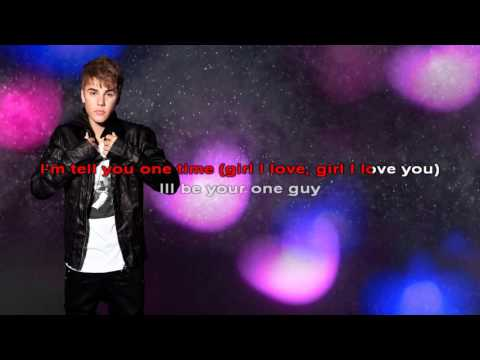 One Time  Lyric - Justin Bieber - Karaoke