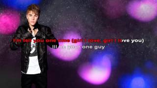 Download One Time  Lyric - Justin Bieber - Karaoke MP3 song and Music Video
