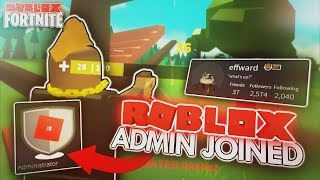 A ROBLOX ADMIN PLAYED ISLAND ROYALE WITH ME...! **craziest clutch victory EVER**