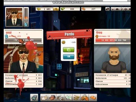Goodgame Gangster gogi   Incroyable!!! un lvl 58 bats un lvl 203 facilement