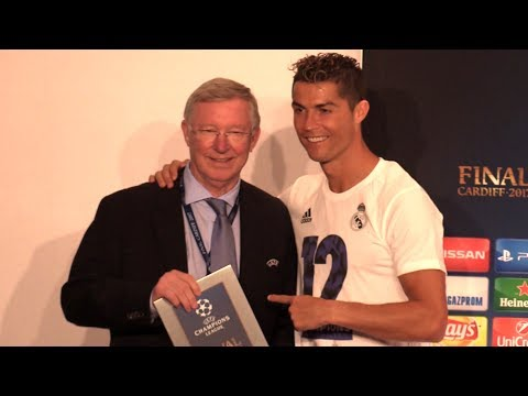 Cristiano Ronaldo Full Press Conference - Collects Man Of The Match Award From Sir Alex Ferguson