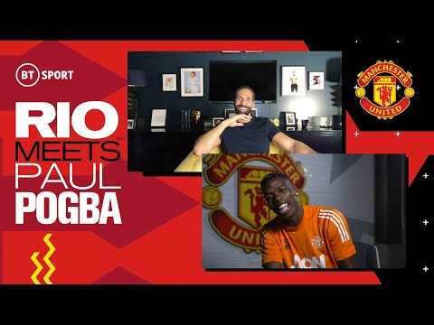 Rio Ferdinand Meets Paul Pogba | Man Utd star on Bruno Fernandes, his contract situation & Cavani