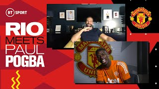 Rio Ferdinand Meets Paul Pogba | Man Utd star on Bruno Fernandes, his contract situation & Cavani