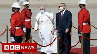 Pope Francis makes first papal visit to Iraq amid security fears - BBC News
