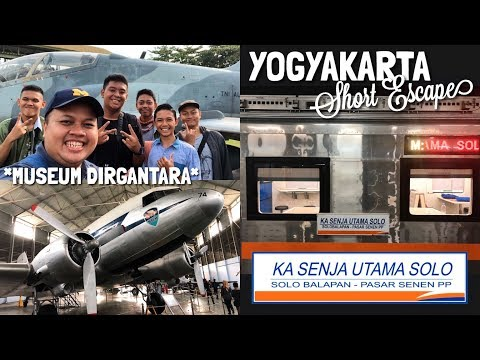 Museum Dirgantara Mandala YOGYAKARTA + Naik Kereta Senja Utama Solo!