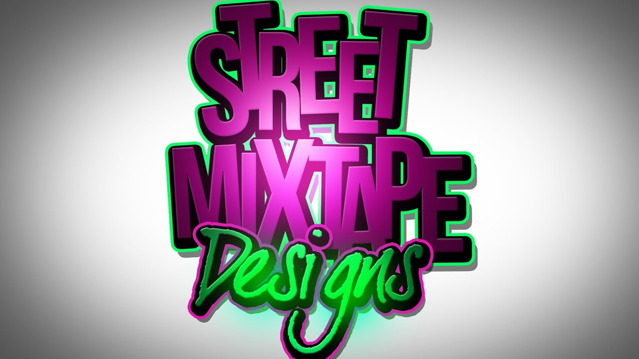 PSD Photoshop CS6 Adobe Text Mixtape Cover Art Graphic ...