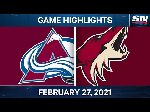 NHL Game Highlights | Avalanche vs. Coyotes - Feb. 27, 2021