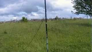 Cb Radio Portable Station - Trying A New 1/4 Wave Groundplane Antenna