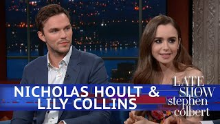 Stephen Nerds Out With 'Tolkien' Stars Nicholas Hoult & Lily Collins