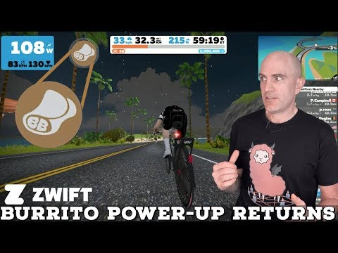 Swift Zwift Tip: The Burrito Power-Up is BACK! - YouTube