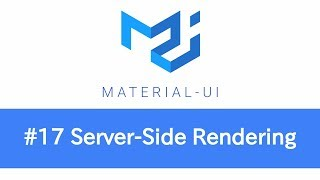 Learn React & Material UI - #17 Server-Side Rendering