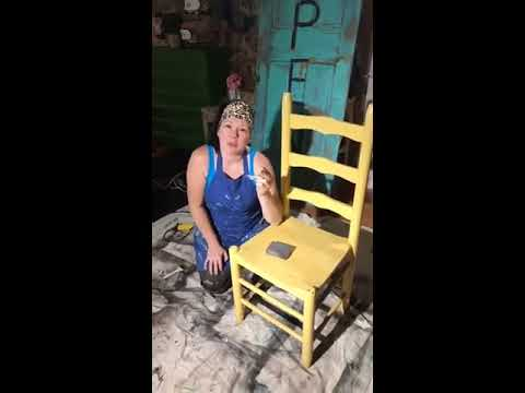 Junk Monkey Paint Company How to Paint a Wooden Chair LIVE