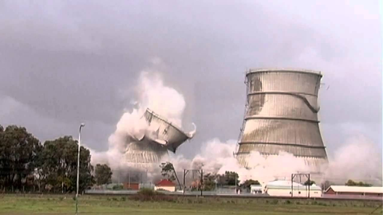 Cooling Tower Demolition : Athlone cooling towers demolition youtube