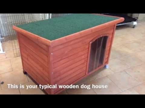 Scratch test on wooden dog kennel and metal dog kennel