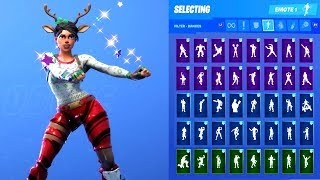 RED NOSED RAIDER SKIN SHOWCASE WITH ALL FORTNITE DANCES & EMOTES