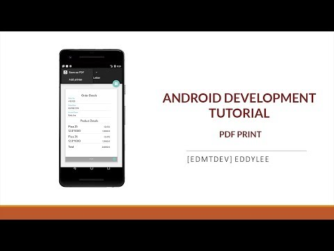 Android Development Tutorial - Create PDF and print with Wifi Printer thumbnail