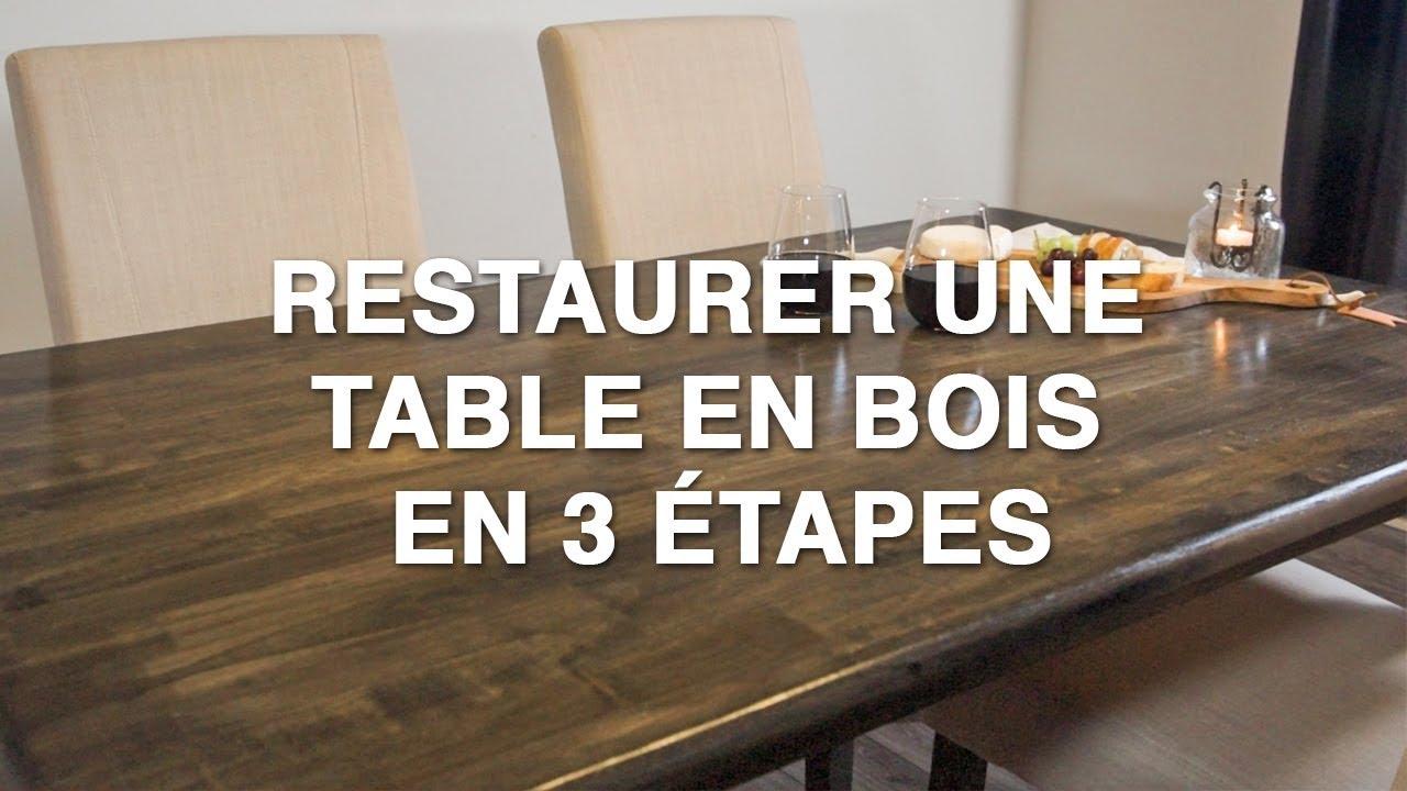 Relooker Une Table En Bois restaurer une table en bois en 3 étapes