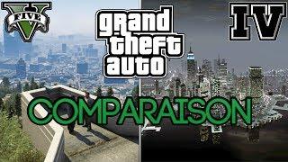 GTA 5 VS GTA 4 - Comparaison : Graphisme, Véhicules, Décors, Gameplay ...