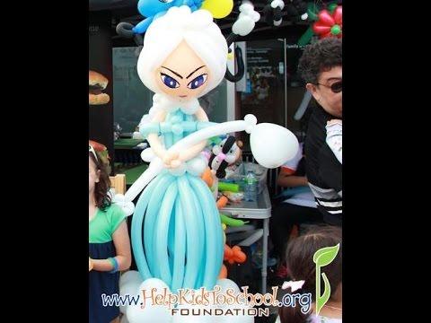 Frozen Princess/Queen Elsa balloon tutorial