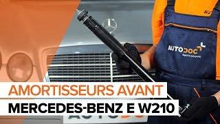 Regardez le vidéo manuel sur la façon de remplacer MERCEDES-BENZ E-CLASS (W210) Disque de frein
