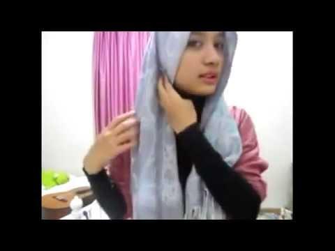Tutorial Hijab Pashmina - Cara Berjilbab Praktis Untuk ke Kantor dan ...