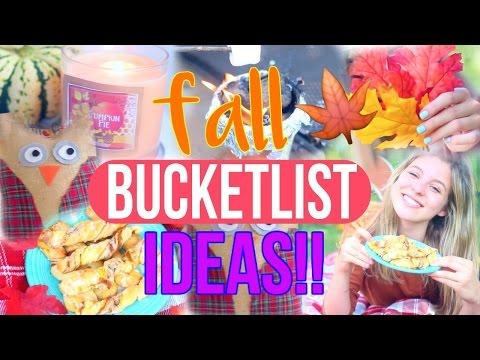 Fall Bucketlist Ideas!! | Fun Things to Do this Fall!!