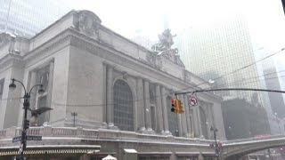 Snow causes NY train cancellations, leaving commuters stranded