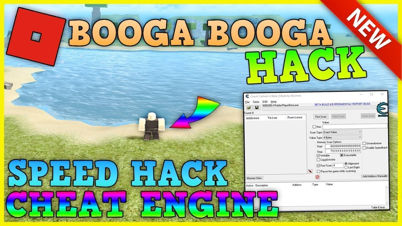 New Roblox Booga Booga Speed Hack W Cheat Engine Patched Youtube