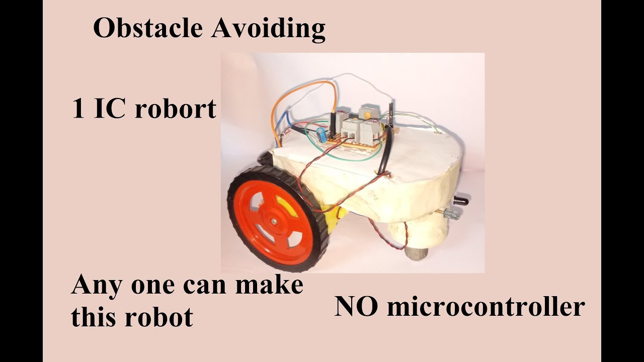 Avoiding Robot Without Microcontroller 1 Ic Use No Simple Rf Remote Control Circuit Homemade Microcontrolled And Very Easy