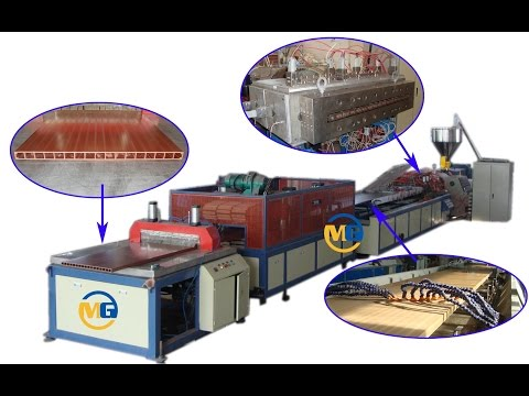 PE WPC Door Hollow Board Extrusion Line/ Wpc Door Extrusion Line/wpc Door Machine