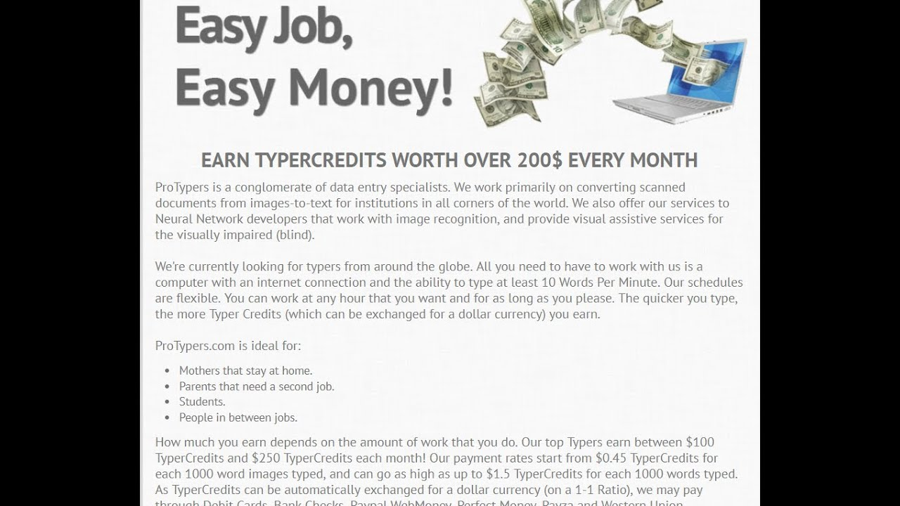 Work At Home Data Entry Jobs No Fee Canada Making Money In