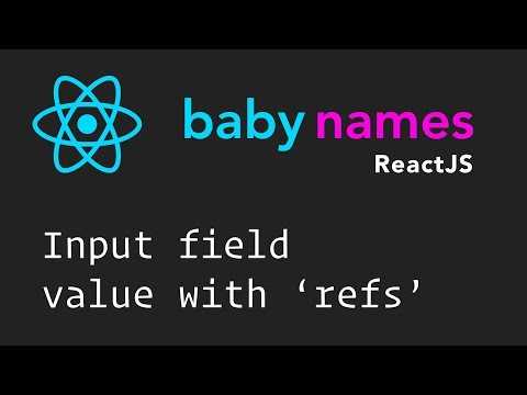 React Beginner Series: #8 - Input Value with Refs