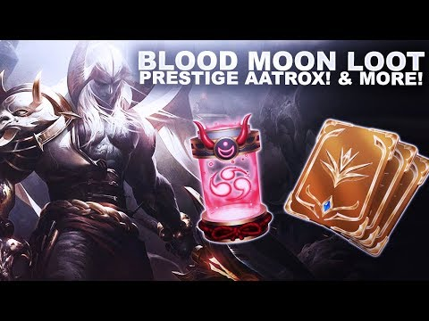 BLOOD MOON LOOT! UNLOCKING PRESTIGE AATROX & MORE! | League of Legends thumbnail