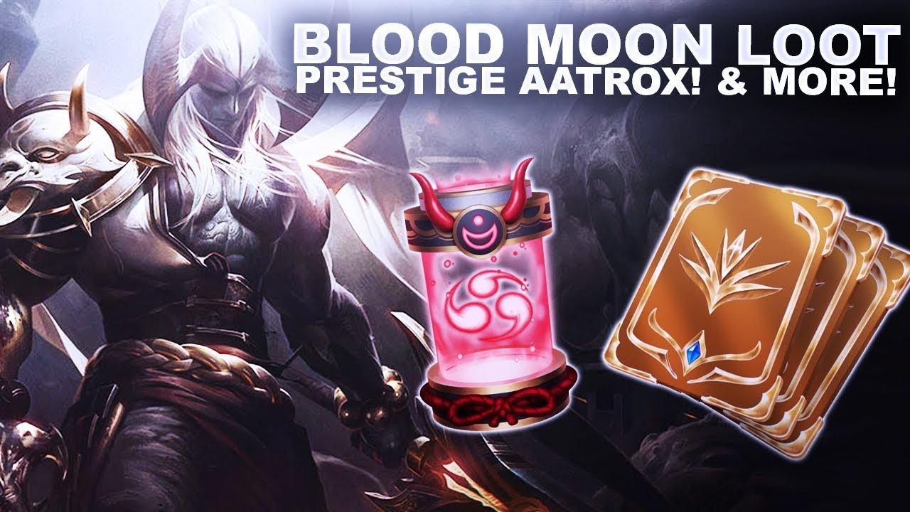 BLOOD MOON LOOT! UNLOCKING PRESTIGE AATROX & MORE! | League of Legends