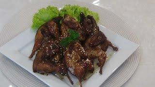 Homemade Vietnamese Fried-pan Five Spice Quails - Chim Cut Roti