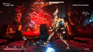 Ball Buster on Corrupted Shinnok
