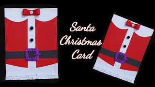 How to make Christmas greeting cards / Santa Christmas Card / merry Christmas card / Christmas card