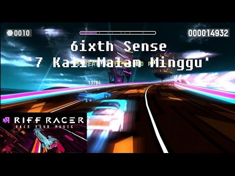 Riff Racer Gameplay: '6ixth Sense - 7 Kali Malam Minggu' Music
