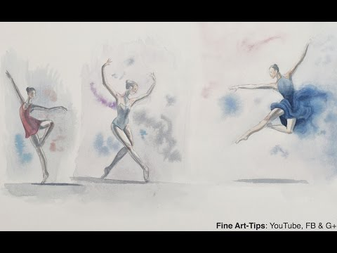 Ballerinas, How to Sketch Dancers in Watercolor - Painting