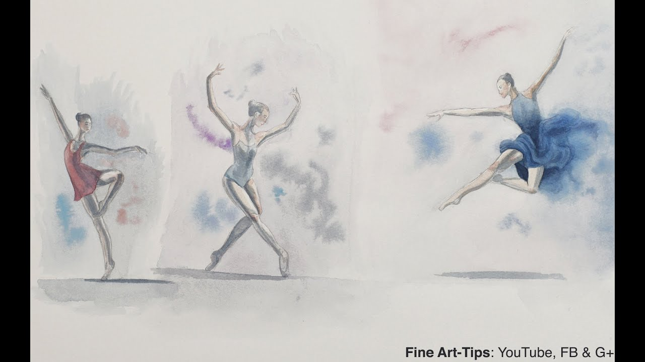 ballerinas how to sketch dancers in watercolor painting - Free Sketches To Paint