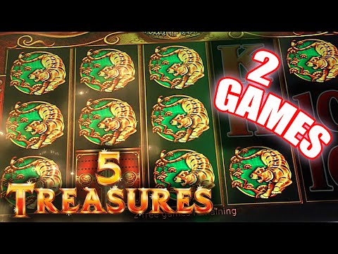 5 Treasures Slot Machine Big Win Two Free Spin