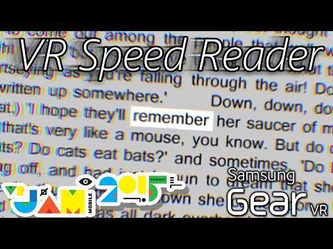 VR Speed Reader   Oculus' Mobile VR Jam 2015